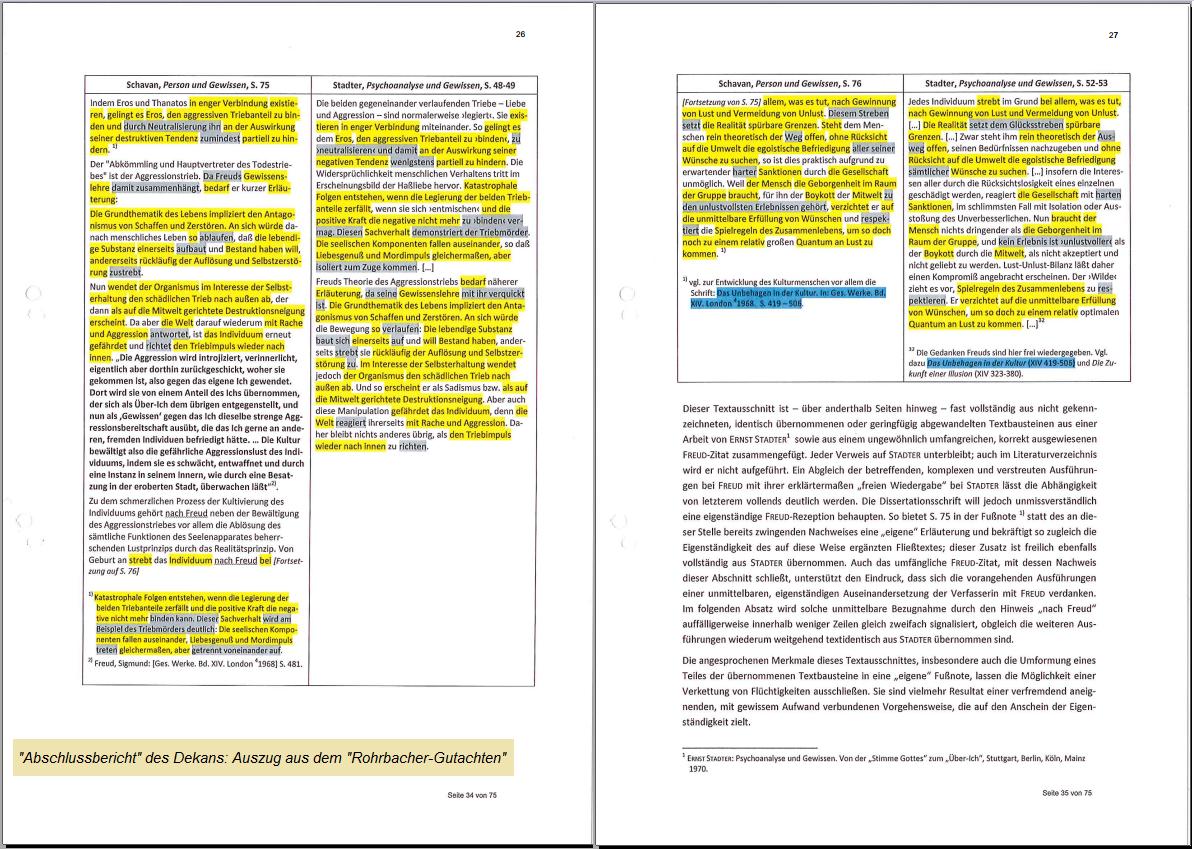 schavangate komplett: Das vollständige Dossier – Der Bericht der Uni ...