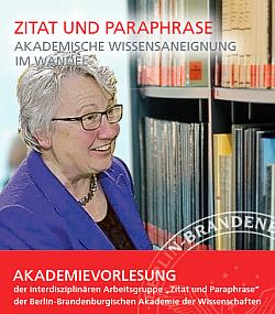 Akademievorlesung mit Annette Schavan