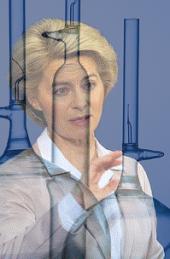 Ursula von der Leyen im Labor