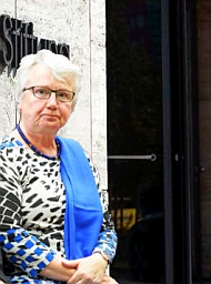 Annette Schavan vor der Konrad-Adenauer-Stiftung